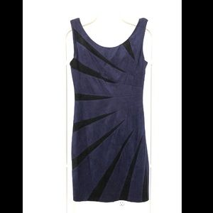 Guess faux suede navy & black starburst mini dress